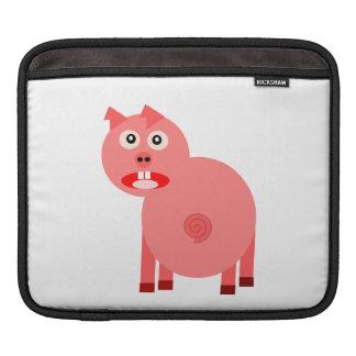 Dibujo animado asustado del cerdo manga de iPad