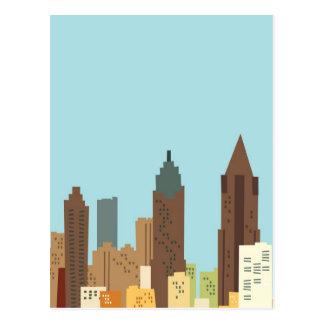 Dibujo animado Atlanta Tarjeta Postal