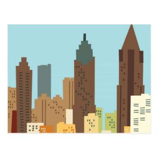 Dibujo animado Atlanta Tarjetas Postales