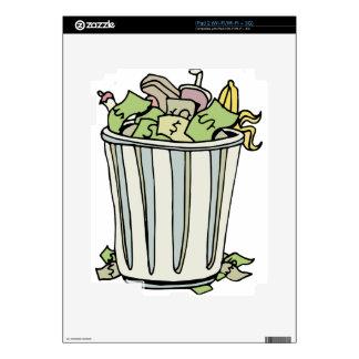 Dibujo animado ausente del dinero que lanza calcomanías para iPad 2