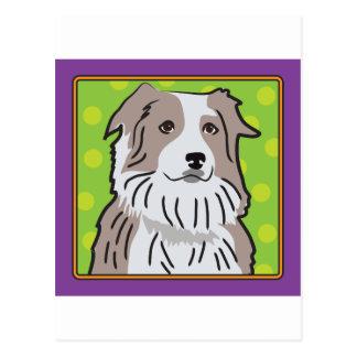 Dibujo animado australiano del pastor tarjetas postales