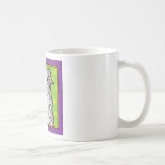 Dibujo animado australiano del pastor taza de café
