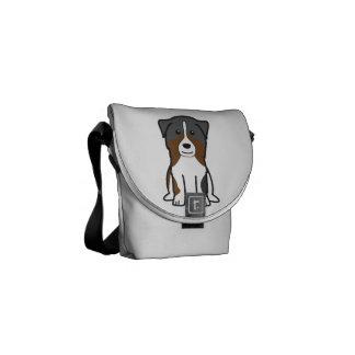 Dibujo animado australiano del perro de pastor bolsas de mensajeria