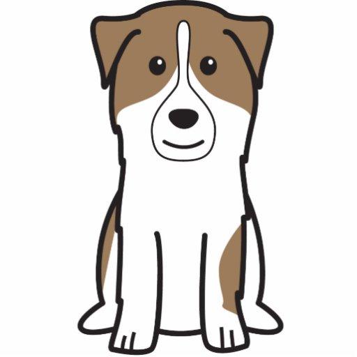 Dibujo animado australiano del perro de pastor escultura fotográfica