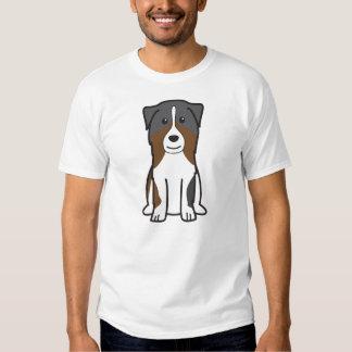 Dibujo animado australiano del perro de pastor poleras