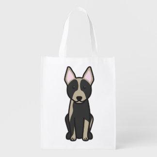 Dibujo animado australiano del perro del ganado bolsa reutilizable
