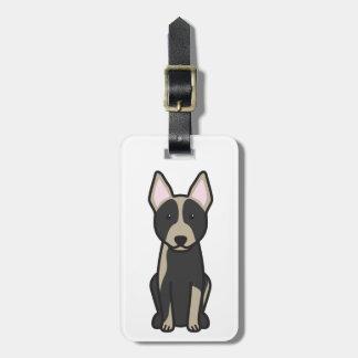 Dibujo animado australiano del perro del ganado etiquetas para equipaje