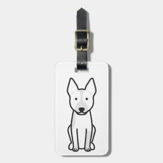 Dibujo animado australiano del perro del ganado etiquetas maleta