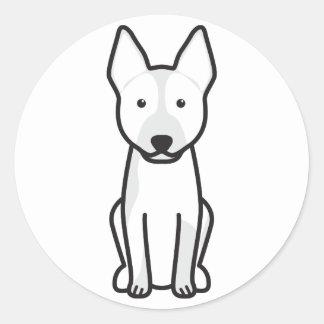 Dibujo animado australiano del perro del ganado pegatina redonda