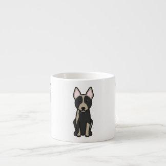 Dibujo animado australiano del perro del ganado taza espresso