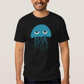 Dibujo animado azul caprichoso de las medusas poleras
