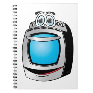 Dibujo animado azul de la estufa del acero libretas espirales