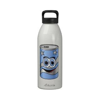 Dibujo animado azul de la poder de soda
