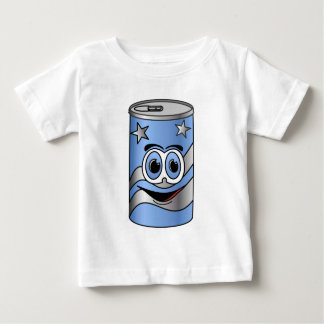 Dibujo animado azul de la poder de soda playeras