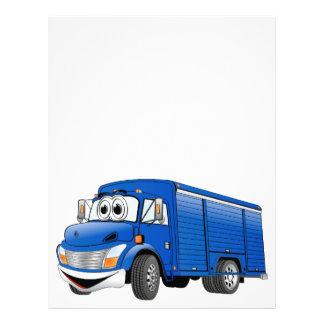 Dibujo animado azul del camión de la bebida membrete a diseño