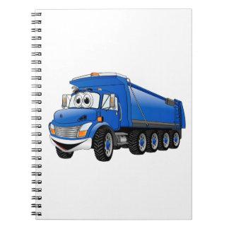 Dibujo animado azul del camión volquete 10w cuaderno
