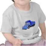 Dibujo animado azul del camión volquete camisetas