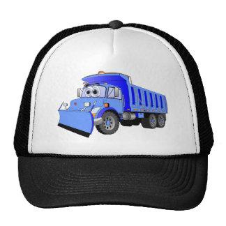 Dibujo animado azul del camión volquete gorras de camionero