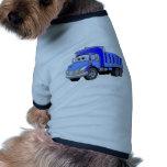 Dibujo animado azul del camión volquete ropa de perros