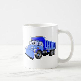 Dibujo animado azul del camión volquete taza
