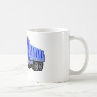 Dibujo animado azul del camión volquete tazas