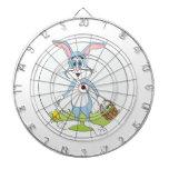 Dibujo animado azul del conejo del conejito de pas tablero dardos