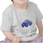 Dibujo animado azul del convertible del coche de camiseta