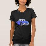 Dibujo animado azul del convertible del coche de camisetas