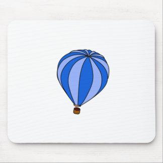 Dibujo animado azul del impulso del aire caliente alfombrilla de raton