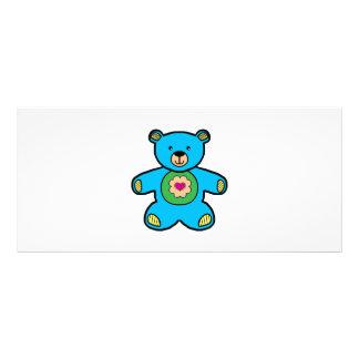 Dibujo animado azul del oso plantillas de lonas