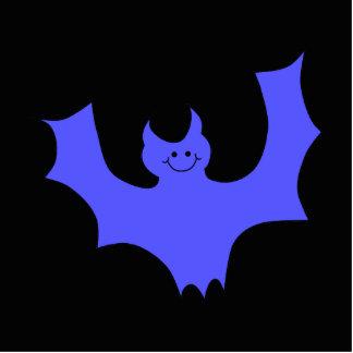 Dibujo animado azul del palo. Fondo negro Fotoescultura Vertical
