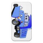 Dibujo animado azul del quitanieves iPhone 4/4S fundas