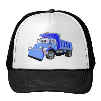 Dibujo animado azul del quitanieves gorras