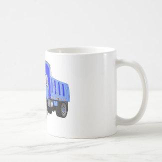 Dibujo animado azul del quitanieves taza