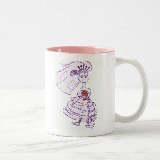 Dibujo animado/Bachelorette de la novia Tazas De Café