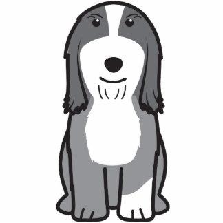 Dibujo animado barbudo del perro del collie escultura fotográfica
