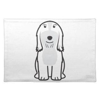 Dibujo animado barbudo del perro del collie mantel