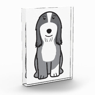 Dibujo animado barbudo del perro del collie