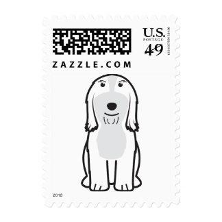 Dibujo animado barbudo del perro del collie franqueo