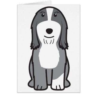 Dibujo animado barbudo del perro del collie felicitacion