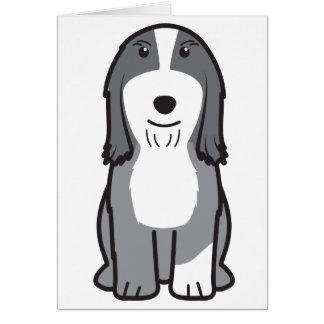 Dibujo animado barbudo del perro del collie felicitación