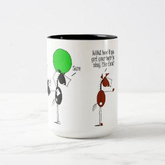 Dibujo animado bashkir lindo del caballo tazas de café