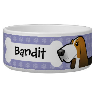 Dibujo animado Basset Hound Comedero Para Mascota