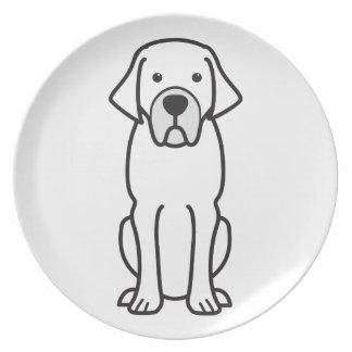 Dibujo animado belga del perro del mastín plato para fiesta