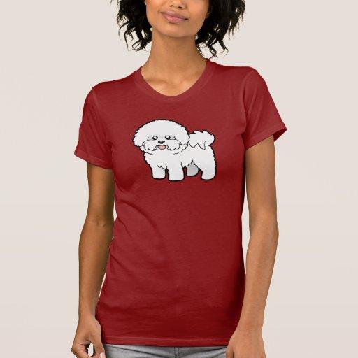 Dibujo animado Bichon Frise Camisetas