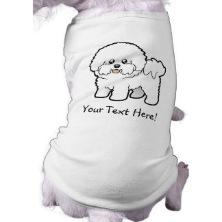 Dibujo animado Bichon Frise Camisas De Mascota