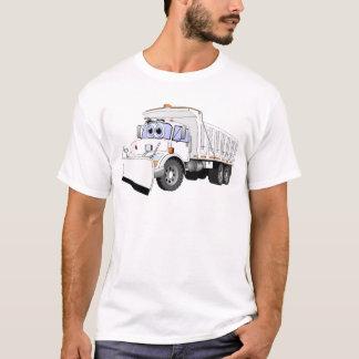 Dibujo animado blanco de la paleta del camión playera