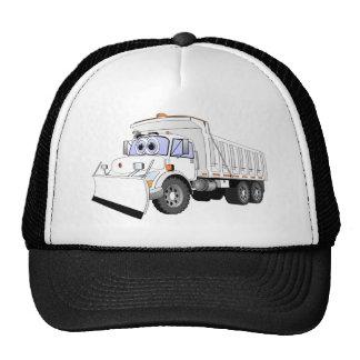 Dibujo animado blanco del camión volquete gorras