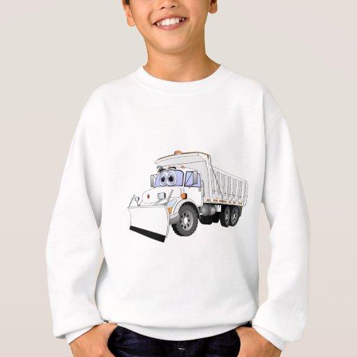 Dibujo animado blanco del camión volquete sudadera