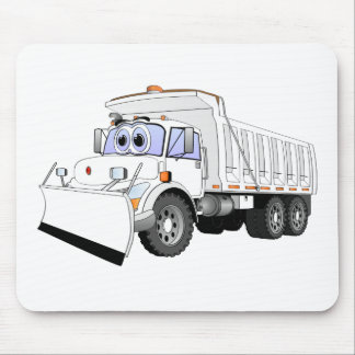 Dibujo animado blanco del camión volquete tapete de ratones